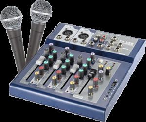 mixer mit 2 mics
